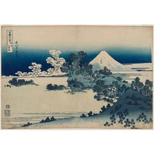 Katsushika Hokusai: Seven-Mile Beach in Sagami Province (Sôshû Shichiri-ga-hama), from the series Thirty-six Views of Mount Fuji (Fugaku sanjûrokkei) - Museum of Fine Arts