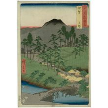 歌川広重: Iga Province: Ueno (Iga, Ueno), from the series Famous Places in the Sixty-odd Provinces [of Japan] ([Dai Nihon] Rokujûyoshû meisho zue) - ボストン美術館