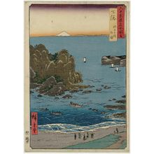 Utagawa Hiroshige: Shimôsa Province: Chôshi Beach, Toura (Shimôsa, Chôshi no hama, Toura), from the series Famous Places in the Sixty-odd Provinces [of Japan] ([Dai Nihon] Rokujûyoshû meisho zue) - Museum of Fine Arts
