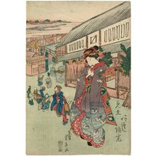 Ryûsai Shigeharu: Actor Arashi Rikan as a Young Woman - Museum of Fine Arts