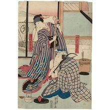 Ryûsai Shigeharu: Actors Arashi Rikan II and Sawamura Kunitarô II - ボストン美術館