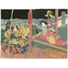 Ryûsai Shigeharu: Actors Nakamura Tomijûrô II as Suke no Tsubone (R) and Nakamura Shikan as Taira no Tomomori (L) - Museum of Fine Arts