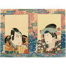 Ryûsai Shigeharu: Actors Onoe Kikugorô III as Shizuka Gozen (R) and Nakamura Utaemon III as the Fox Tadanobu (L) - ボストン美術館