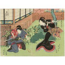 Ryûsai Shigeharu: Actors Onoe Kikugorô as Iwafuji (R) and Iwai Kumesaburô as Ohatsu (L) - Museum of Fine Arts