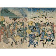Ryûsai Shigeharu: Giving Thanks and Parading in the Street (Okagemairi sandô no yosooi) - Museum of Fine Arts