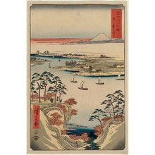 Utagawa Hiroshige: The Tone River at Kônodai (Kônodai Tonegawa), from the series Thirty-six Views of Mount Fuji (Fuji sanjûrokkei) - Museum of Fine Arts