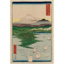 Utagawa Hiroshige: Yokohama at Noge in Musashi Province (Musashi Noge Yokohama), from the series Thirty-six Views of Mount Fuji (Fuji sanjûrokkei) - Museum of Fine Arts