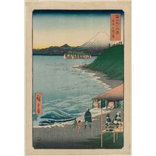 Utagawa Hiroshige: Seven-Mile Beach in Sagami Province (Sagami Shichiri-ga-hama), from the series Thirty-six Views of Mount Fuji (Fuji sanjûrokkei) - Museum of Fine Arts