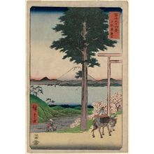 Utagawa Hiroshige: Rokusozan in Kazusa Province (Kazusa Rokusozan), from the series Thirty-six Views of Mount Fuji (Fuji sanjûrokkei) - Museum of Fine Arts
