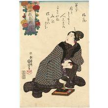 Utagawa Kuniyoshi: Hatsukaki? o kiku, from the series An Asortment of Chrysanthemums in the Modern Style (Imayô kiku soroi) - Museum of Fine Arts