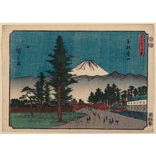 Utagawa Hiroshige: Aoyama in Edo (Tôto Aoyama), from the series Thirty-six Views of Mount Fuji (Fuji sanjûrokkei) - Museum of Fine Arts