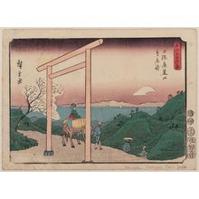 Utagawa Hiroshige: Shrine Gate Pass at Rokusozan in Kazusa Province (Kazusa Rokusozan Torii-tôge), from the series Thirty-six Views of Mount Fuji (Fuji sanjûrokkei) - Museum of Fine Arts
