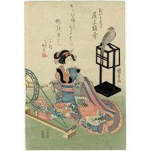 Ganjôsai Kunihiro: Actor Onoe Baikô III as the spirit of Oiwa - Museum of Fine Arts