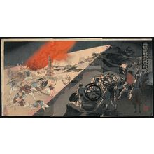 Kobayashi Toshimitsu: Our Army's Great Victory at the Night Battle of Pyongyang (Heijô yasen wagahei daishôri) - Museum of Fine Arts