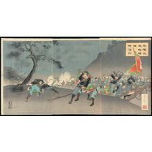 Fujiwara Shin'ichi: Fierce Fighting at Pyongyang Displays the Japanese Spirit to the World (Heijô daigekisen wakon kaigai ni kagayaku) - Museum of Fine Arts