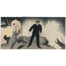 小林清親: Navy Commander Hirose Takeo (Kaigun chûsa Hirose Takeo-kun) - ボストン美術館