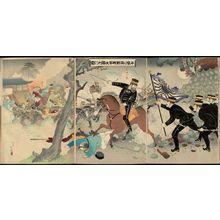 安達吟光: The Great Victory of Our Army at the Battle of Pyongyang (Heijô no gekisen waga gun dai shôri no zu) - ボストン美術館