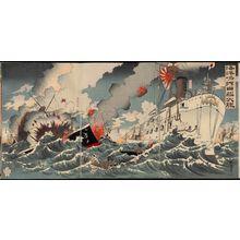 Nakamura Shûkô: Great Japanese Naval Victory off Haiyang Island (Kaiyôtô oki nikkan dai-shôri) - ボストン美術館