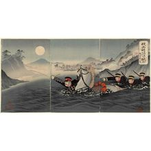Watanabe Nobukazu: Our Forces Crossing the Yalu River: In Honor of Lieutenant-General Nozu (Wagahei Ôryokkô o koyuru) - Museum of Fine Arts
