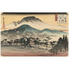Utagawa Hiroshige: Evening Bell at Mii-dera Temple (Mii banshô), from the series Eight Views of Ômi (Ômi hakkei no uchi) - Museum of Fine Arts