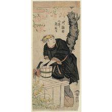 Ryûkôsai Jokei: A New Play for the New Year Season (Ni no kawari shin kyôgen): Actor Kanô (Arashi) Hinasuke I (as Higaki no Odai) - Museum of Fine Arts
