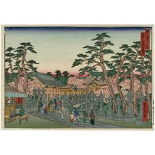 Hasegawa Sadanobu I: The Precincts of the Kitano Tenmangû Shrine (Kitano Tenmangû keidai), from the series Famous Places in the Capital (Miyako meisho no uchi) - Museum of Fine Arts