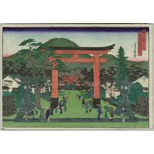 代長谷川貞信: Fushimi Inari Shrine (Fushimi Inari yashiro), from the series Famous Places in the Capital (Miyako meisho no uchi) - ボストン美術館