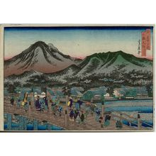 Hasegawa Sadanobu I: The Great Bridge at Sanjô (Sanjô Ôhashi), from the series Famous Places in the Capital (Miyako meisho no uchi) - Museum of Fine Arts