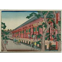 代長谷川貞信: Back View of the Sanjûsangendô (Sanjûsangendô godô no zu), from the series Famous Places in the Capital (Miyako meisho no uchi) - ボストン美術館