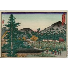 Hasegawa Sadanobu I: Autumn Scene at Kôdai-ji Temple (Kôdai-ji aki no kei), from the series Famous Places in the Capital (Miyako meisho no uchi) - Museum of Fine Arts