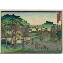 代長谷川貞信: Kagura Hill at Mount Kikkyô (Kikkyôzan Kaguraoka), from the series Famous Places in the Capital (Miyako meisho no uchi) - ボストン美術館