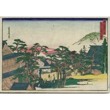 代長谷川貞信: Konkaikômyô-ji Temple in Kurodani (Kurodani Konkaikômyô-ji), from the series Famous Places in the Capital (Miyako meisho no uchi) - ボストン美術館