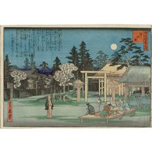 代長谷川貞信: Shinmei Shrine (Shinmeigû), from the series One Hundred Views of Osaka (Naniwa hyakkei no uchi) - ボストン美術館
