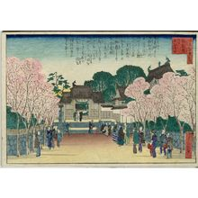 Hasegawa Sadanobu I: Zuiryû-ji Temple, Popularly Called Priest Tetsugen's Temple (Zuiryû-ji, zoku ni Tetsugen-ji to iu), from the series One Hundred Views of Osaka (Naniwa hyakkei no uchi) - Museum of Fine Arts