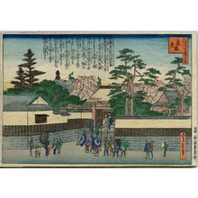代長谷川貞信: Kakuman-ji Temple, from the series One Hundred Views of Osaka (Naniwa hyakkei no uchi) - ボストン美術館