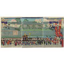 Shôkôtei Sadahiro: Hongan-ji...Osaka... Kari kôkyo no zu - ボストン美術館