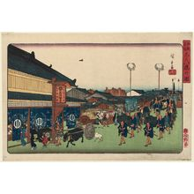 歌川広重: View of Shinbashi (Shinbashi no zu), from the series Famous Places in Edo (Kôto meisho) - ボストン美術館