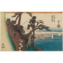 歌川広重: Mount Fuji from Satta (Satta Fuji), from the series Famous Places of Our Country (Honchô meisho) - ボストン美術館