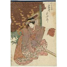 豊川芳国: Actor Iwai Hanshirô V as the maiden Sonohana - ボストン美術館