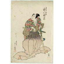 豊川芳国: Actor Ichikawa Danzô V as Tsukimoto Enshû - ボストン美術館