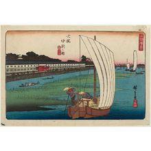 歌川広重: Nakasu at Ôhashi (Ôhashi Nakasu no zu), from the series Fine Views of Edo (Kôto shôkei) - ボストン美術館