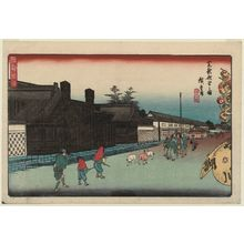 歌川広重: The New Mint in Shiba (Shiba shin zeniza no zu), from the series Fine Views of Edo (Kôto shôkei) - ボストン美術館