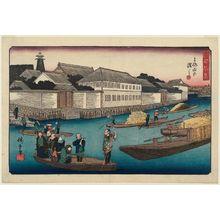 歌川広重: The Yoroi Ferry (Yoroi no watashi), from the series Fine Views of Edo (Kôto shôkei) - ボストン美術館