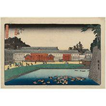 Utagawa Hiroshige: Inside the Yamashita Gate (Yamashita gomon no uchi), from the series Fine Views of Edo (Kôto shôkei) - Museum of Fine Arts