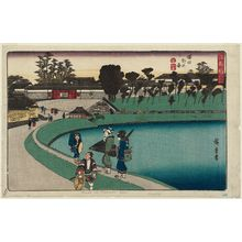 歌川広重: Outside the Sakurada Gate (Sakurada soto no zu), from the series Fine Views of Edo (Kôto shôkei) - ボストン美術館