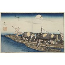 Utagawa Hiroshige: The Yodo River (Yodogawa), from the series Famous Views of Kyoto (Kyôto meisho no uchi) - Museum of Fine Arts