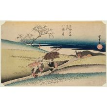 Utagawa Hiroshige: The Village of Yase (Yase no sato), from the series Famous Views of Kyoto (Kyôto meisho no uchi) - Museum of Fine Arts