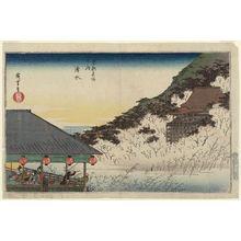Utagawa Hiroshige: Kiyomizu-dera Temple (Kiyomizu), from the series Famous Views of Kyoto (Kyôto meisho no uchi) - Museum of Fine Arts