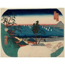 Utagawa Hiroshige: Shôhô-ji at Mii-dera Temple (Mii Shôhô-ji), from the series Eight Views of Ômi (Ômi hakkei no uchi) - Museum of Fine Arts