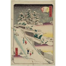 Utagawa Hiroshige II: Kasumigaseki in Snow (Kasumigaseki setchû), from the series Thirty-six Views of the Eastern Capital (Tôto sanjûrokkei) - Museum of Fine Arts
